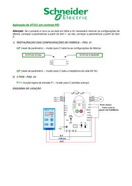 Aplicação de ATV21 em controle PID