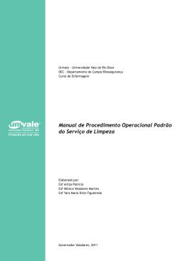 Manual de Procedimento Operacional Padrão do Serviço