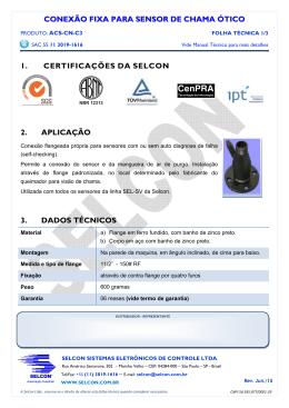 CONEXÃO FIXA PARA SENSOR DE CHAMA ÓTICO 1