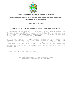 Aviso TJ nº 94/2012 - Tribunal de Justiça do Estado do Rio de Janeiro