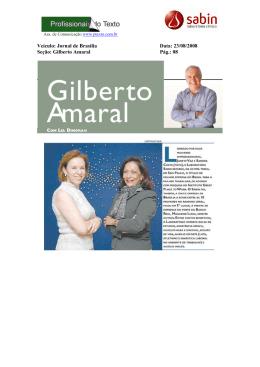 Veículo: Jornal de Brasília Data: 23/08/2008