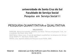 a pesquisa quantitativa