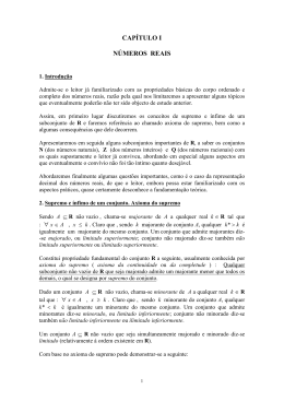 CAPÍTULO I NÚMEROS REAIS