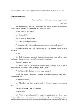 1.ª menção honrosa - Domingos Miguel Sousa