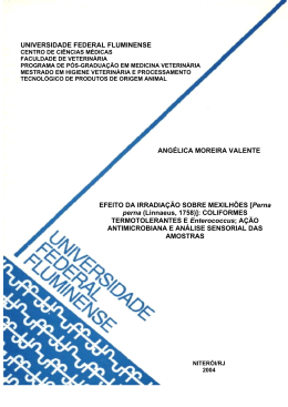 ( Perna perna (Linnaeus) 1758) - Universidade Federal Fluminense