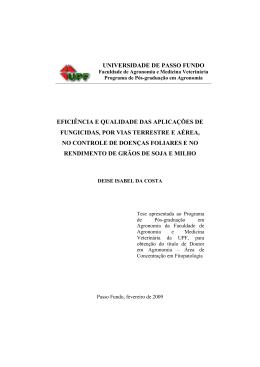 Tese de Doutorado - Pesquisa em Aviação Agrícola.