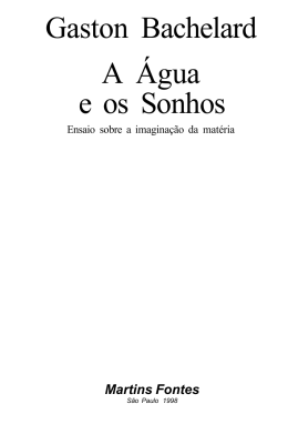 Gaston Bachelard A Água e os Sonhos