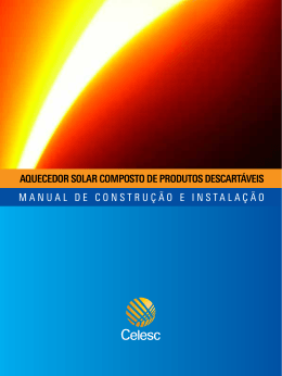 Manual do Aquecedor Solar