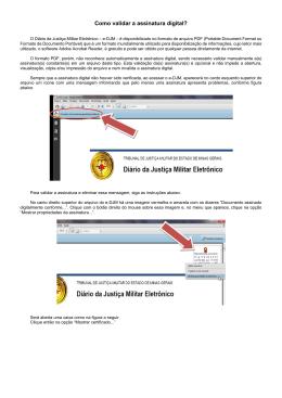 Como validar a assinatura digital?