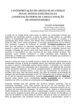 a interpretação do artigo 92 do código penal