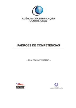 Analista Universitário - Agência de Certificação Ocupacional