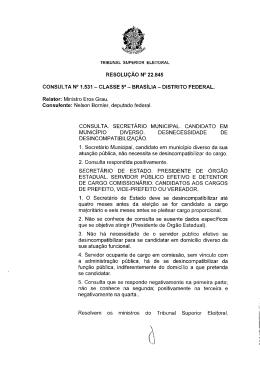 TRIBUNAL SUPERIOR ELEITORAL RESOLUÇÃO N - TRE-RJ