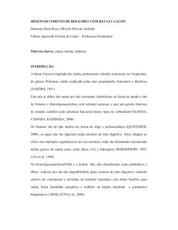 DESENVOLVIMENTO DE BOLO DIET COM BATATA YACON