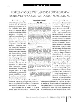 Representações portuguesas e brasileiras da identidade nacional
