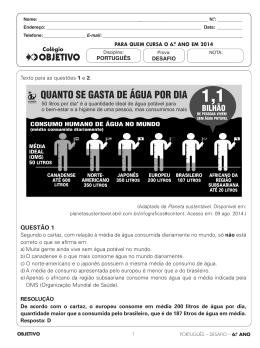 6.O ANO EM 2014 - Colégio Objetivo
