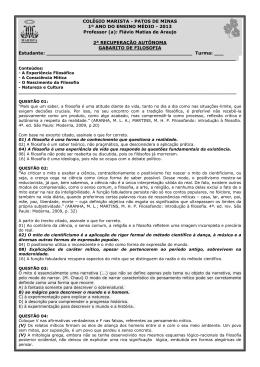 Gabarito rec. filos 1ano