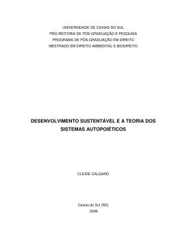 desenvolvimento sustentável e a teoria dos