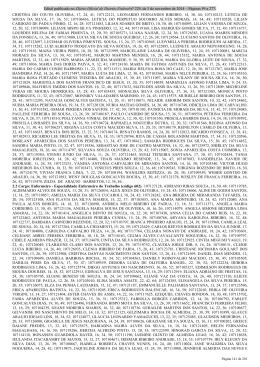 03/11/2014 - Edital nº 6 - resultado preliminar das provas