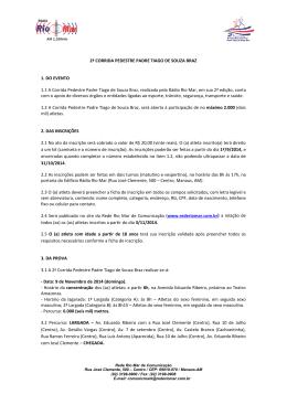 2ª CORRIDA PEDESTRE PADRE TIAGO DE