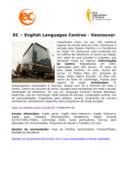 EC – English Languages Centres - Vancouver