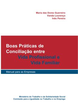 Boas Práticas de Conciliação entre Vida Profissional e Vida Familiar