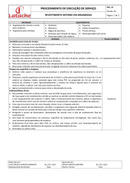 PES. 12 V01 - Revestimento interno em argamassa