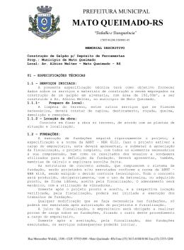 Mem Galpao Deposito - Prefeitura Municipal de Mato Queimado