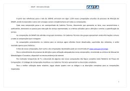 Custo de Composições SINAPI (Com desoneração) – CEF