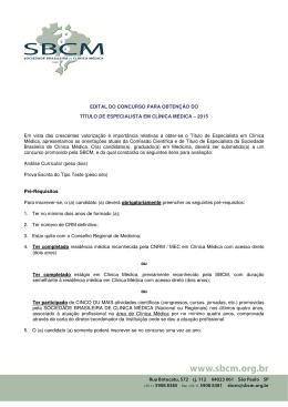 edital do concurso para obtenção do título de especialista em clínica