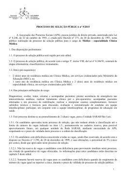 Edital 9_2015_PSP Médico-Clínica Médica_SÃO LUÍS