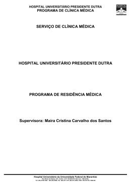 Serviço de Clínica Médica - HU UFMA