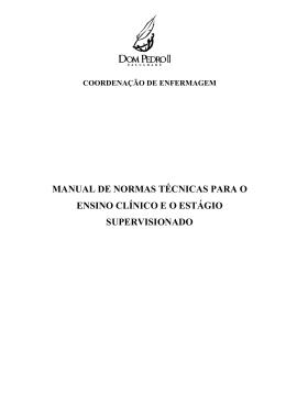 manual de normas técnicas para o ensino clínico e o estágio