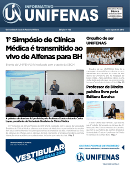 1º Simpósio de Clínica Médica é transmitido ao vivo de