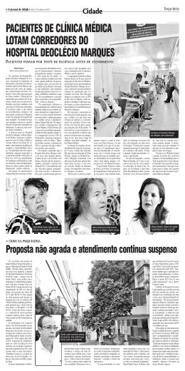 Pacientes de Clinica médica lotam corredores do
