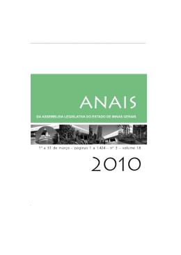 Anais - 03março 2010 - Assembleia de Minas