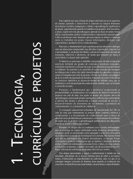 Tecnologia, Currículo e Projetos