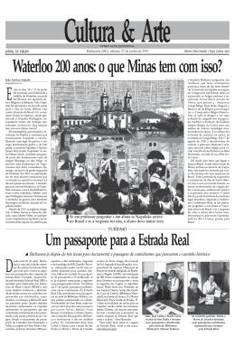 Waterloo 200 anos: o que Minas tem com isso?