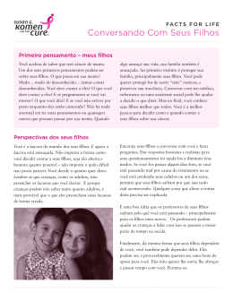Conversando Com Seus Filhos - Susan G. Komen for the Cure