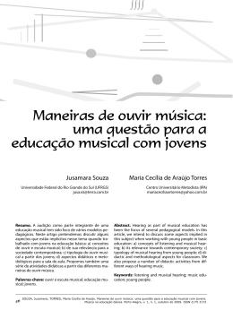 Maneiras de ouvir música: uma questão para a educação