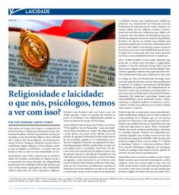 Religiosidade e laicidade: o que nós, psicólogos, temos a