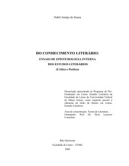 DO CONHECIMENTO LITERÁRIO: - Biblioteca Digital de Teses e