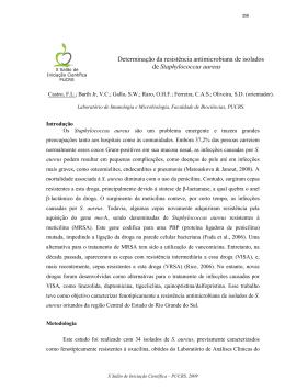 Determinação da resistência antimicrobiana de isolados
