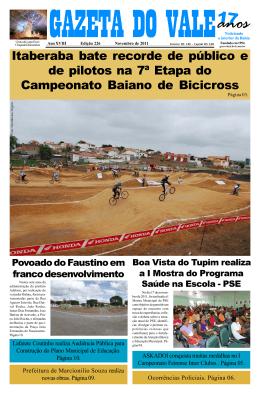 Edição 226-PDF.p65 - Jornal Gazeta do Vale Itaberaba | Jornal