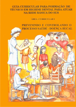 Guia curricular para formação do técnico em higiene