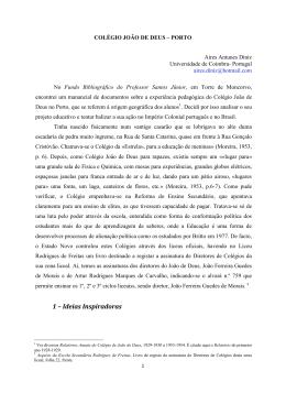 COLEGIO JOAO DE DEUS – PORTO