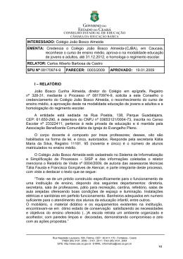 INTERESSADO: Colégio João Bosco Almeida EMENTA