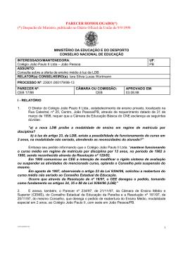 Parecer CNE/CEB nº 17/1998, aprovado em 3 de agosto de 1998