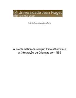 Amândia Neves - Universidade Jean Piaget de Cabo Verde
