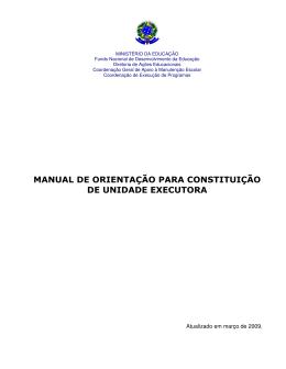 Manual Orientação para Constituição UEx