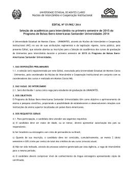 Edital - Cotec - Universidade Estadual de Montes Claros